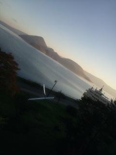 洞爺湖の朝。