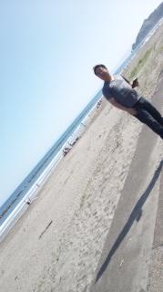 イタンキ浜〜!